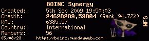 Join BOINC Synergy here!